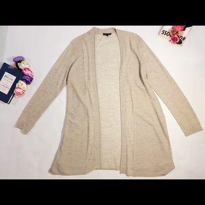 Eileen Fisher beige wool cardigan long size L
